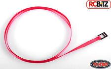 TIE down LEGATURA TOUGH Cinturino Rosso con metallo latch 400mm x 3,5 mm FUNE Scala Toy