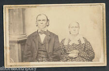 19th C. ID'd COUPLE ~ SALT of EARTH ~ ORIGINAL PHOTO ~ CIVIL WAR PERIOD PORTRAIT