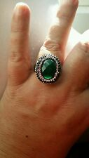 Qvc STEEL by DESIGN Sz 10 GREEN QUARTZ white & gray crystal's Ring  $74.99 NWT