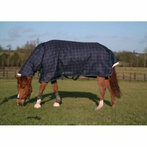 Mark Todd Heavyweight Combo Turnout Rug Navy Plaid