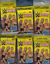 2016 TOPPS WWE HERITAGE FAT PACK 12 PACKS 16 CARDS / PACK ROCK TRIBUTE AUTO'S