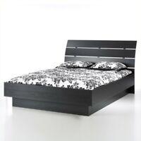 Tvilum Scottsdale Platform Bed in Black Woodgrain-Queen