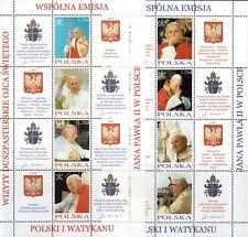 POLONIA 2004 Foglietti Visita GP II Congiunta VATICANO MNH**