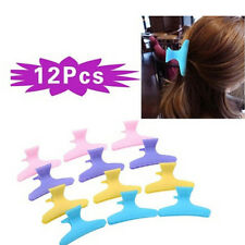 12pcs Plastic Colorful Hairdressing Tool Hair Claw Clip Clamps Women Hair Carefo