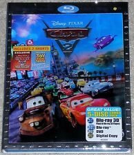 Disney Blu-ray 3D + Blu-ray + DVD Combo - Pixar CARS 2 (Used)