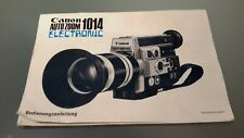 Videocamera Canon 1014 manuale d'uso, istruzioni, manuale utente, user manual DE