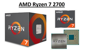 AMD Ryzen 7 2700 Octa Core Processor 3.2 - 4.1 GHz, Socket AM4, 65W CPU Only