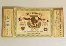 Britney Spears The Circus Tour VIP Golden Ticket 2009 O2 Dublin Sealed