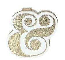 NWT Kate Spade WEDDING BELLES AMPERSAND CLUTCH Bag White Gold (Ret. $358)