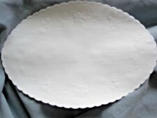 20 pcs  9 X 6 INCH OVAL FLORAL BUDS EMBOSSED SCALLOP EDGE PAPER DOILIES RETIRED