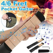 More details for 4 / 6 string fret pocket portable guitar practice generic gadget chord trainer