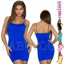 Sexy Sleeveless Bodycon Summer Mini Dress Party Beach Club Size 6 8 10 XS S M