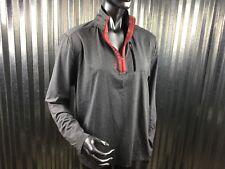 Reebok Mens Work out Running Grey Heather Shirt Zipper Pocket Size small/ch