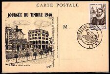 FRANCE FDC - 1946 3 JOURNEE DU TIMBRE - LENS - sur CARTE POSTALE