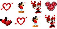 20 water slide nail decals DIY Manicure Valentines Day Mickey & Minnie Trending