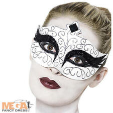 Gothic Black Swan Halloween Eye Mask Ladies Masquerade Fancy Dress Costume Acces