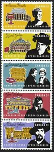 OPERA = Left se-tenant strip of 5 from Minisheet = Canada 2006 #2182a MNH