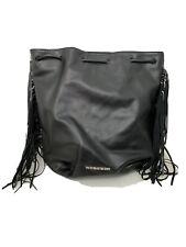 Victoria Secret Black Fringe Backpack Purse