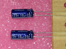 10uF 25V ALUMINUM ELECTROLYTIC CAPACITORS - 25 pc lots