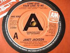 """Janet Jackson-vienen dar Tu Amor Conmigo 7"""" Vinilo Promo"""