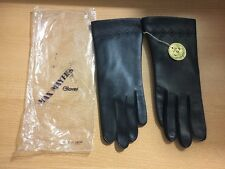 Vintage Max Mayers black vinyl lined Decorative gloves Nwt large Japan