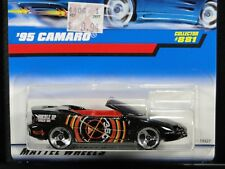 '95 CAMARO CONVERTIBLE, Hot Wheels #881, Black & Orange, 3SP wheels, NEW on Card
