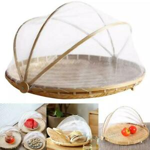 Hand-Woven Food Serving Tent Basket, Fruit Vegetable Cover Container Best.