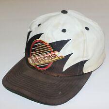 Vintage Vancouver Canucks NHL Logo Athletic Sharktooth Snapback Hat Retro Logo