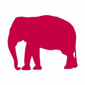 Elephant Mammoth Trunk - Vinyl Decal Sticker - Multiple Colors & Sizes - ebn2797