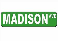 NEW YORK CITY Street Sign Reproduction  Street Sign Madison Avenue