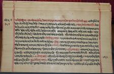 """INDIA OLDER JAIN JAINISM MANUSCRIPT BOOK in SANSKRIT/NATIVE """"NANDISHVER""""  #289"""