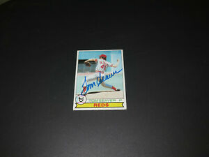 TOM SEAVER HOF Autograph  Cincinnati Reds 1979 Topps  #100  EX+