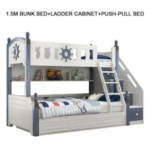 Solid Wood Bed Children Bunk Bed Modern Design New Style kids Bed FREE SHIPPING