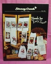 Stony Creek Collection ~ Counted Cross Stitch Book #280 ~Towels for Every Season