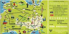 Vintage 1957/1958 Austria Railway Travel Time Chart Converter