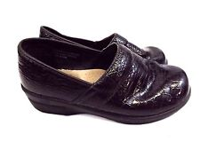 Duck Head Women's Loafers 8.5 M Slip on Shoes Croco Emboss Brown Patent Leather