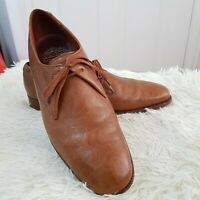 Vintage GRENSON Footmaster Gazelle Textured Leather Lace up Shoes UK 8.5 England