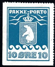 Greenland 1905 10 Ore Parcel Post No Gum Perf 12