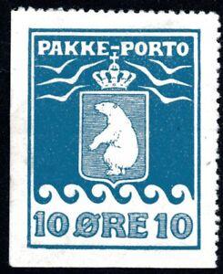 Greenland 1905 10 Ore Parcel Post No Gum Perf 12