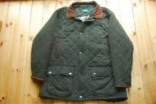 Hoggs of Fife Men's Green Quilted Country Field Jacket Coat XL