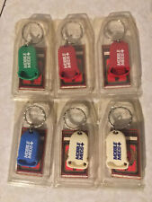 Lot Of 6 Mobile Meds Keychain's Made In USA Highland Glen *NOS