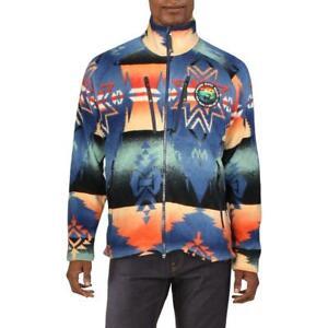 Polo Ralph Lauren Mens Orange Winter Fleece Jacket Outerwear L BHFO 0576