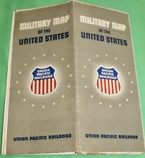 VINTAGE MILITARY MAP OF United States 1941-UNION PACIFIC RAILROAD
