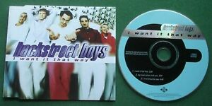 Backstreet Boys I Want It That Way / My Heart Stays With You + CD Single