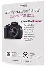 3x Displayschutzfolie für Canon EOS 600D Schutzfolie Displayschutz Display Folie