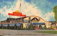 Bellmore New York Sunrise Village Street View Antique Postcard K61882