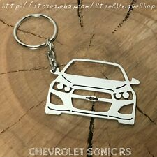 Chevrolet Sonic RS Stainless Steel Keychain