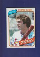 Bernie Carbo 1980 TOPPS Baseball #266 (NM) St. Louis Cardinals