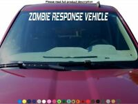 Zombie Response Vehicle Windshield Sticker Decal Graphic lettering cut car truck