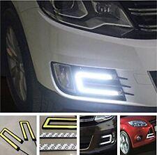 2X Car U Shape COB Led Daytime Running Lights Lamp DRL Light CAR FOG LIGHT